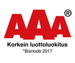 AAA Korkein luottoluokitus - Kauniston Sora Oy